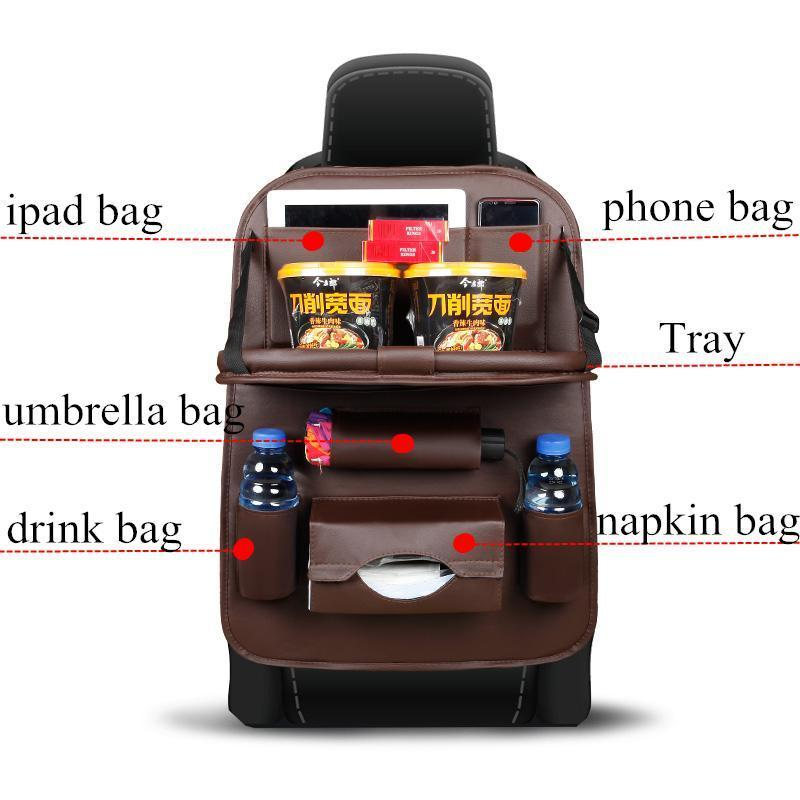 Leather Car Seat Organizer
