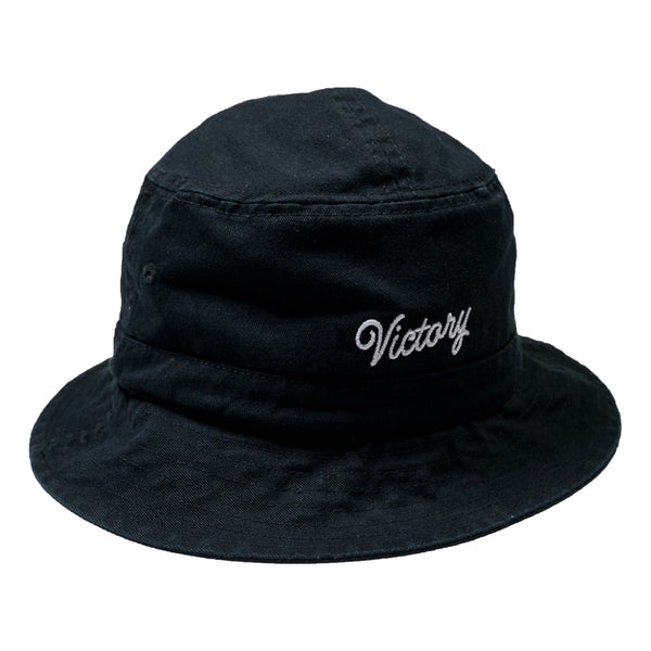 VCTY VICTORY SCRIPT BUCKET HAT - #Black