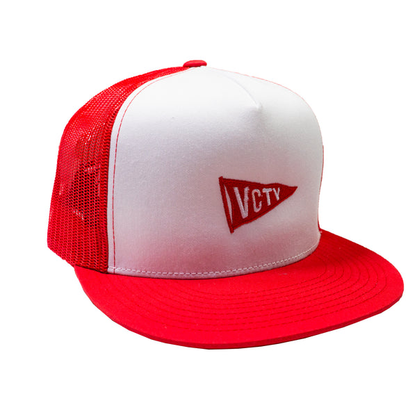 VCTY FLAG TRUCKER HAT - White/Red