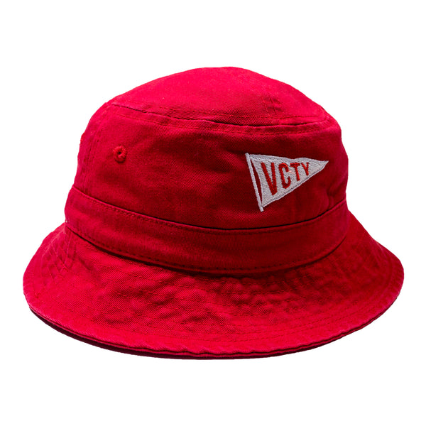VCTY FLAG BUCKET HAT - Red