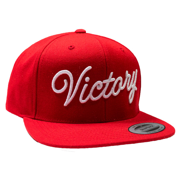 VICTORY SCRIPT CLASSIC SNAPBACK - Red