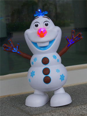 Electric Dancing Music Snowman Toy Princess Dance Toy