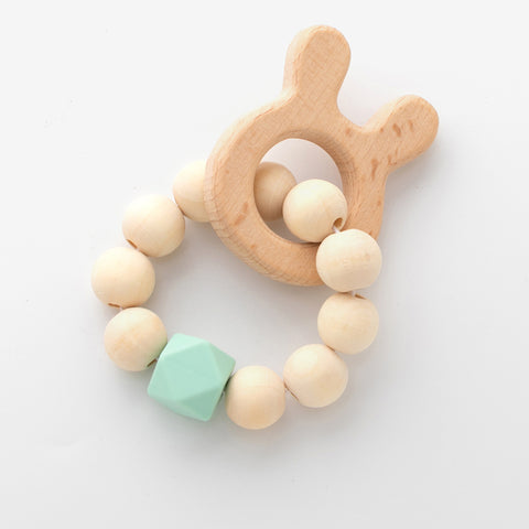 Wooden String Rattle Teether