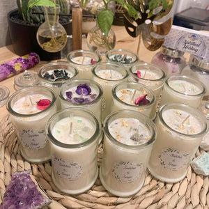 Small Custom Crystal Infused Soy Candle 135g