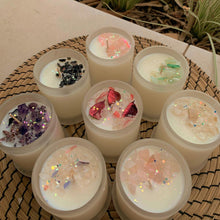 Load image into Gallery viewer, Medium Custom Made Crystal Infused Soy Wax Candle 200g