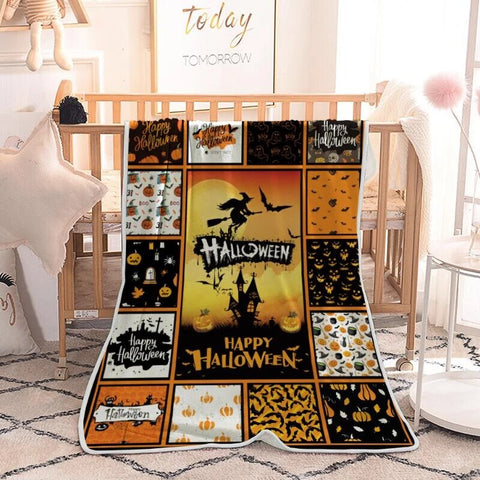PHT1709 - Halloween - We're Looking At You - Blanket
