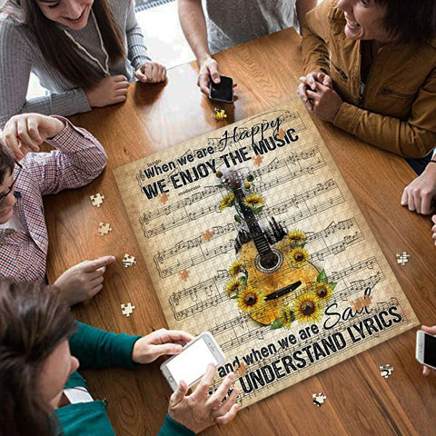 Saint Patrick's Day Gift - MP2202 - When We Are Happy We Enjoy The Music - Puzzle