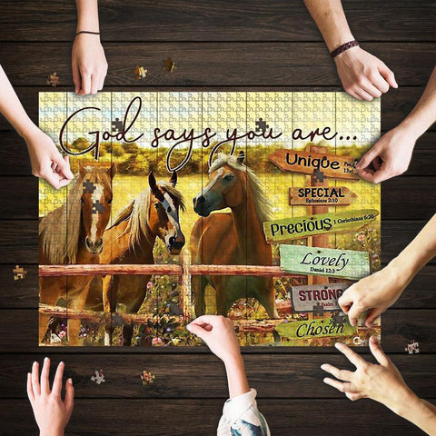 Saint Patrick's Day Gift - MP2202 - God Says You Are Horse - Puzzle