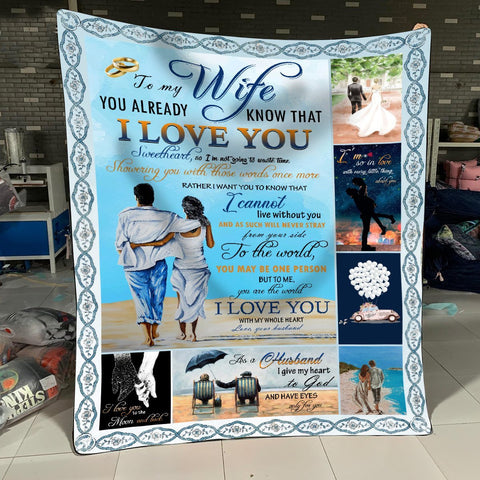 Easter gift - To My Wife - I Love You With My Whole Heart - Blanket - MP1603