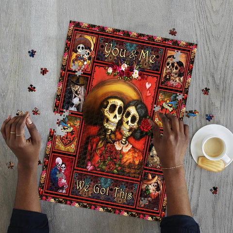 Saint Patrick's Day Gift - MP2202 - Skull Couple, You And Me We Got This - Puzzle