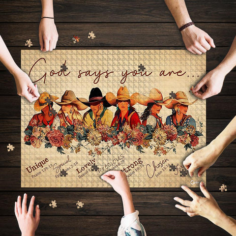 Saint Patrick's Day Gift - MP2202 - Cowgirl God Says You Are - Puzzle