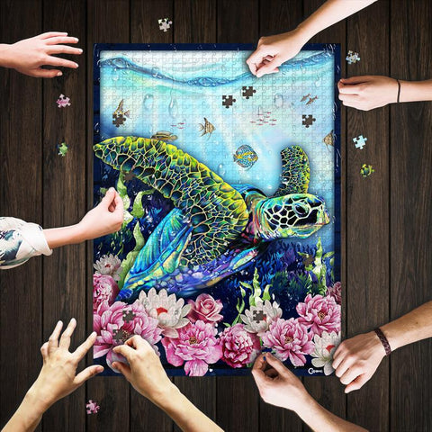 Saint Patrick's Day Gift - MP2202 - Flower Turtle Art - Puzzle