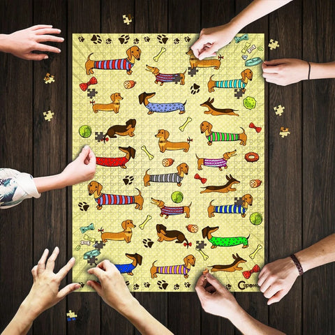 Saint Patrick's Day Gift - MP2202 - For The Love Of Sausage Dog Dachshund - Puzzle
