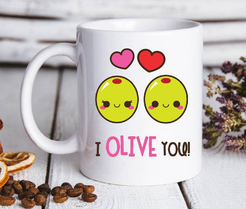 Valentine gift - MP3001 - I Olive you - Mug