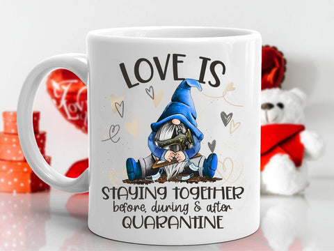 Valentine gift - MP3001 - Love Is Staying Together Sewing Valentine - Mug
