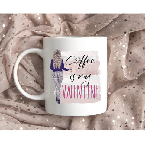 Valentine gift - MP3001 - Coffee is my Valentine - Mug