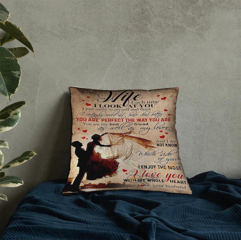 Valentine gift - DN2701 - I Look At You - Linen pillow