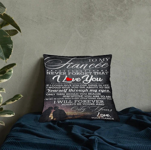 Valentine gift - DN2701 -I Will Forever Love You - Linen pillow