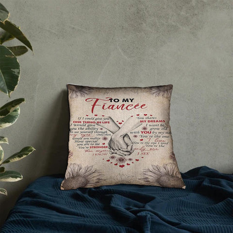 Valentine gift - DN2701 - I Want Grow Old With You - Linen pillow