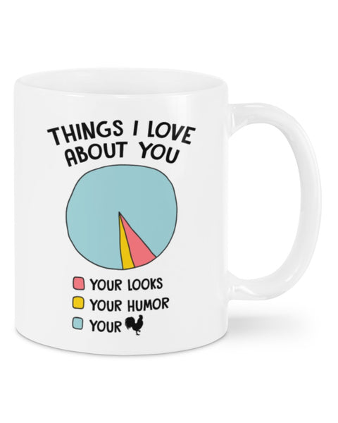 Valentine gift - MP2601 - Things I love about you diagram cock - Mug