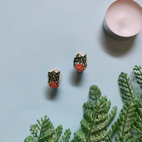 African Mask Plant Studs