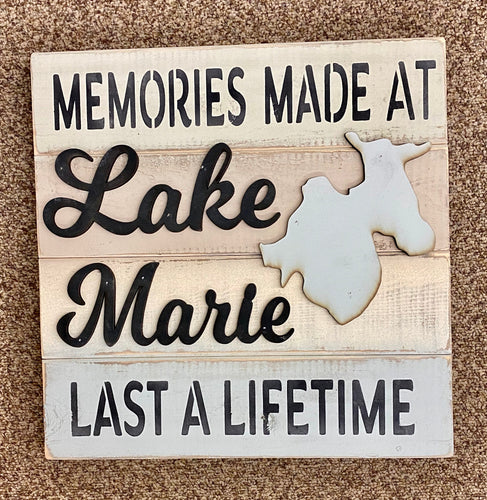 14 x 14 Lake Marie Sign