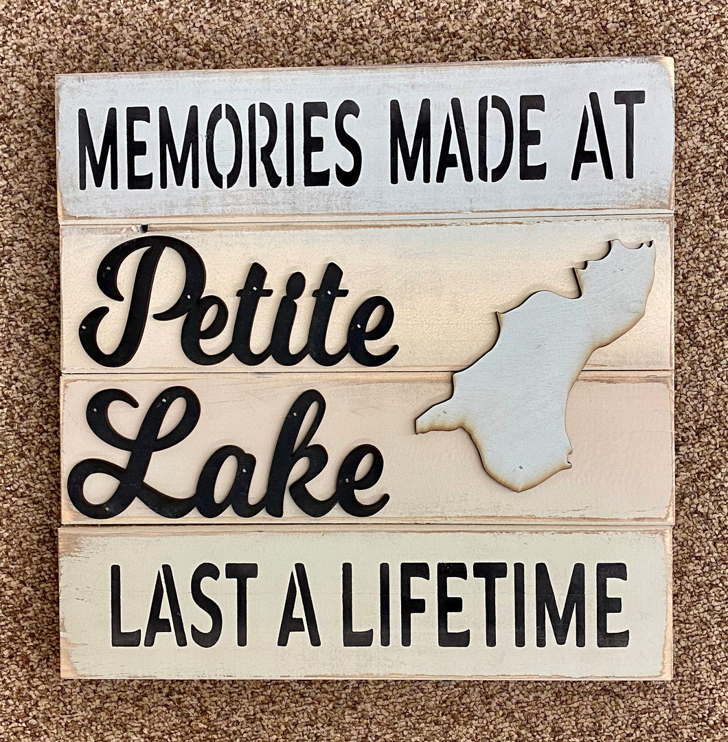 14 x 14 Petite Lake Sign