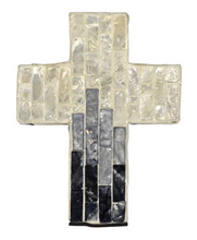 Load image into Gallery viewer, Suri Inlay Cross Ivory/Grey Small