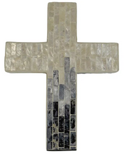 Load image into Gallery viewer, Suri Inlay Cross Ivory/Grey Large