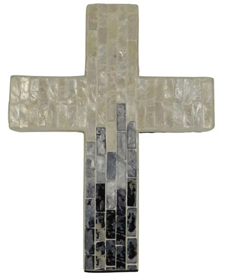 Suri Inlay Cross Ivory/Grey Large