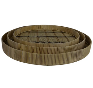 Manu Bamboo Trays - Natural/Black