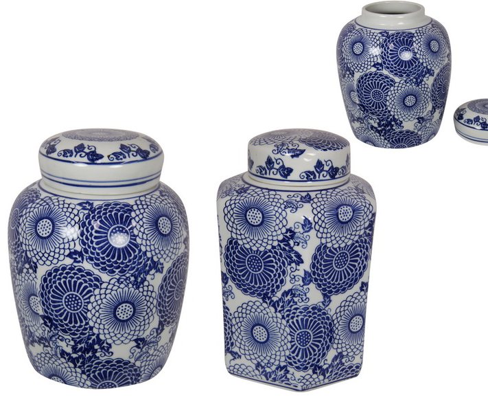 20/22CM BLUE WILLOW FLORAL GINGER JAR (STORE PICK UP ONLY)