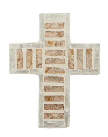 Nassau Inlay Cross 11.5x15cm Natural