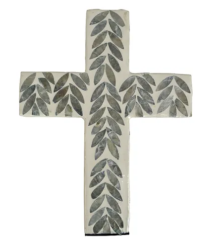 Sari Inlay Cross-Large Grey/Ivor