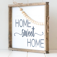 Load image into Gallery viewer, Timber Quote Box/Wall Art - Home Sweet Home - 40x30