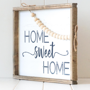 Timber Quote Box/Wall Art - Home Sweet Home - 40x30