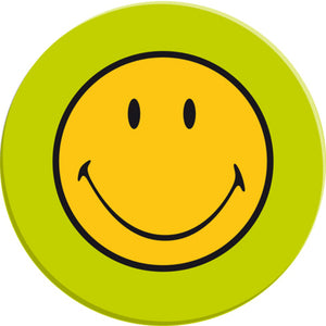Zak!Designs Dineren Smiley Classic dinerbor Ø 25 cm. - Lime groen