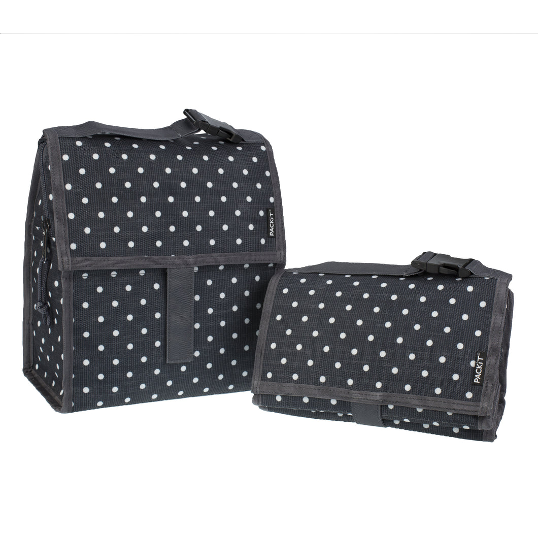 Pack It Koeltas Lunch Tas 4,7 l Polka Dots - Zwart