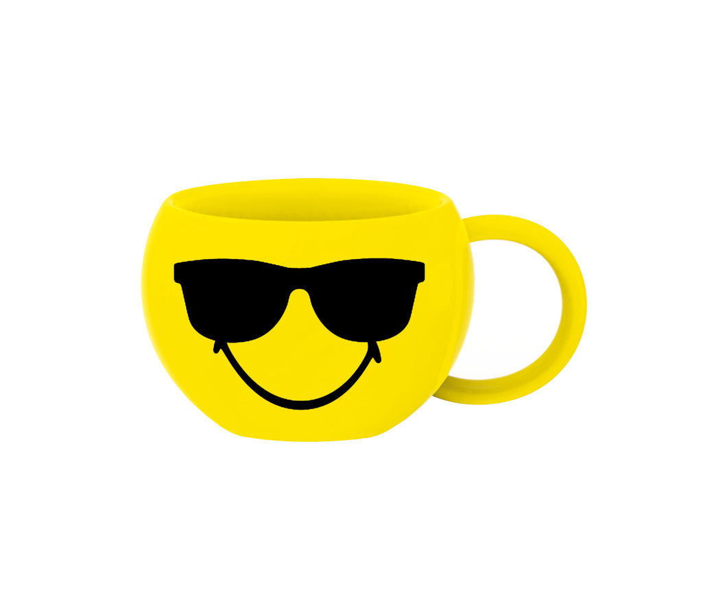 Zak!Designs Smiley 2.0 Beker 100 ml Sunglass - Geel
