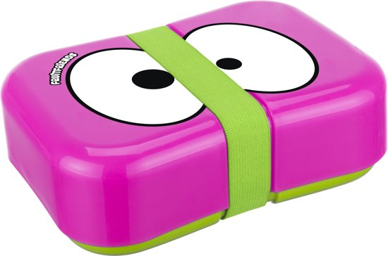 Fruitfriends Kunststof Lunchbox Strap - Hot Pink