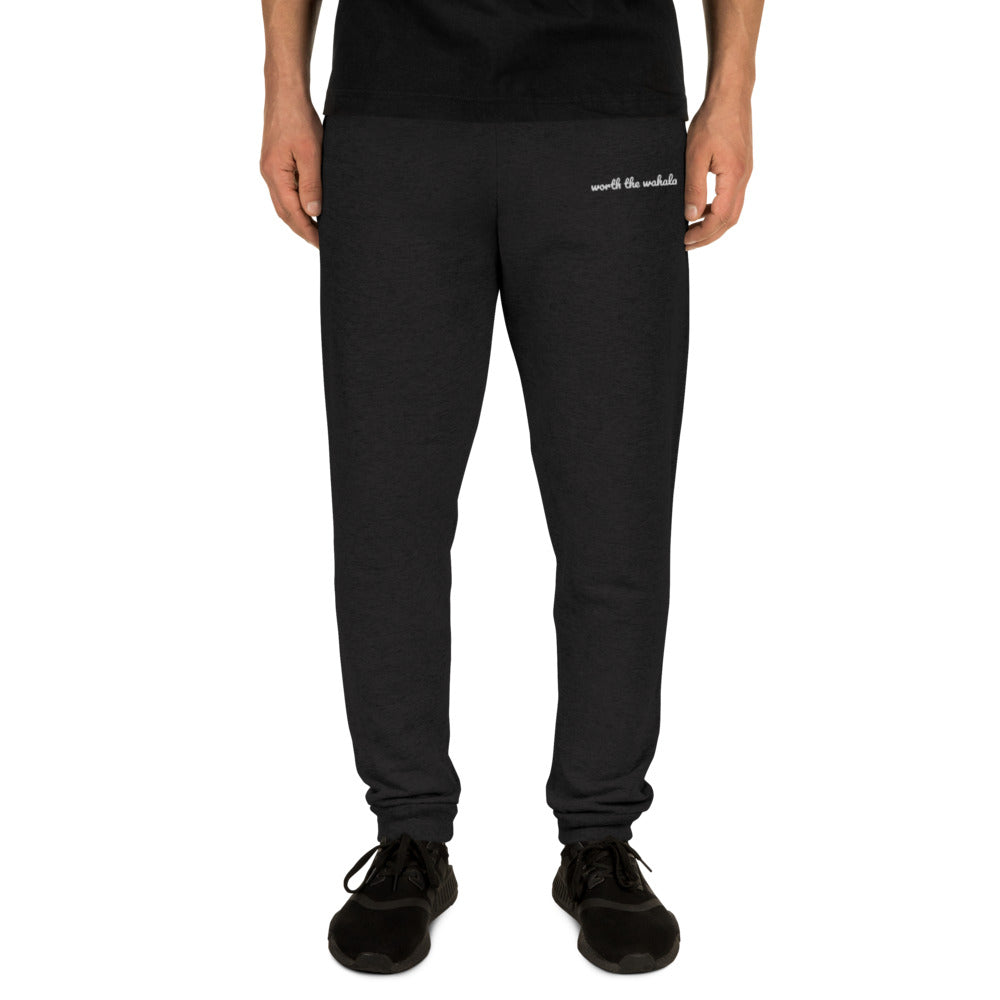Worth the Wahala Unisex Joggers [Charcoal Black]