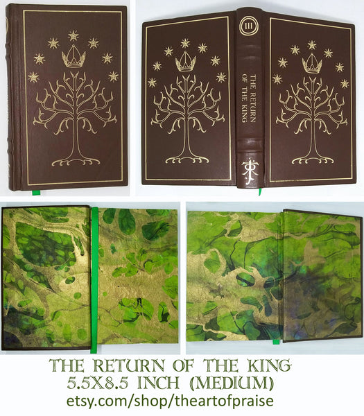 Leatherbound Tolkien Books Brown and Gold 5.5x8.5 Inch (Medium)