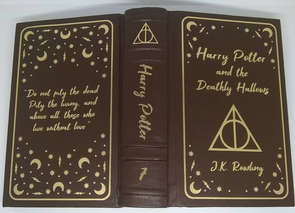 Leatherbound Harry Potter with Rounded Spines - Brown and Gold