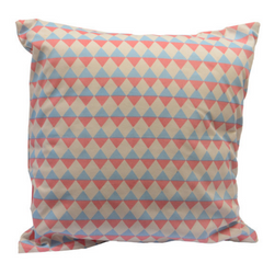 Rose Quartz and Serenity Blue Diamond Throw Pillow
