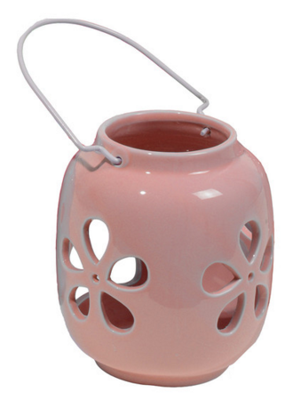Rose Quartz Pink Ceramic Tea Light Holder