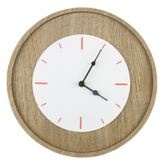 Lily White and Coral Analog Wall Clock