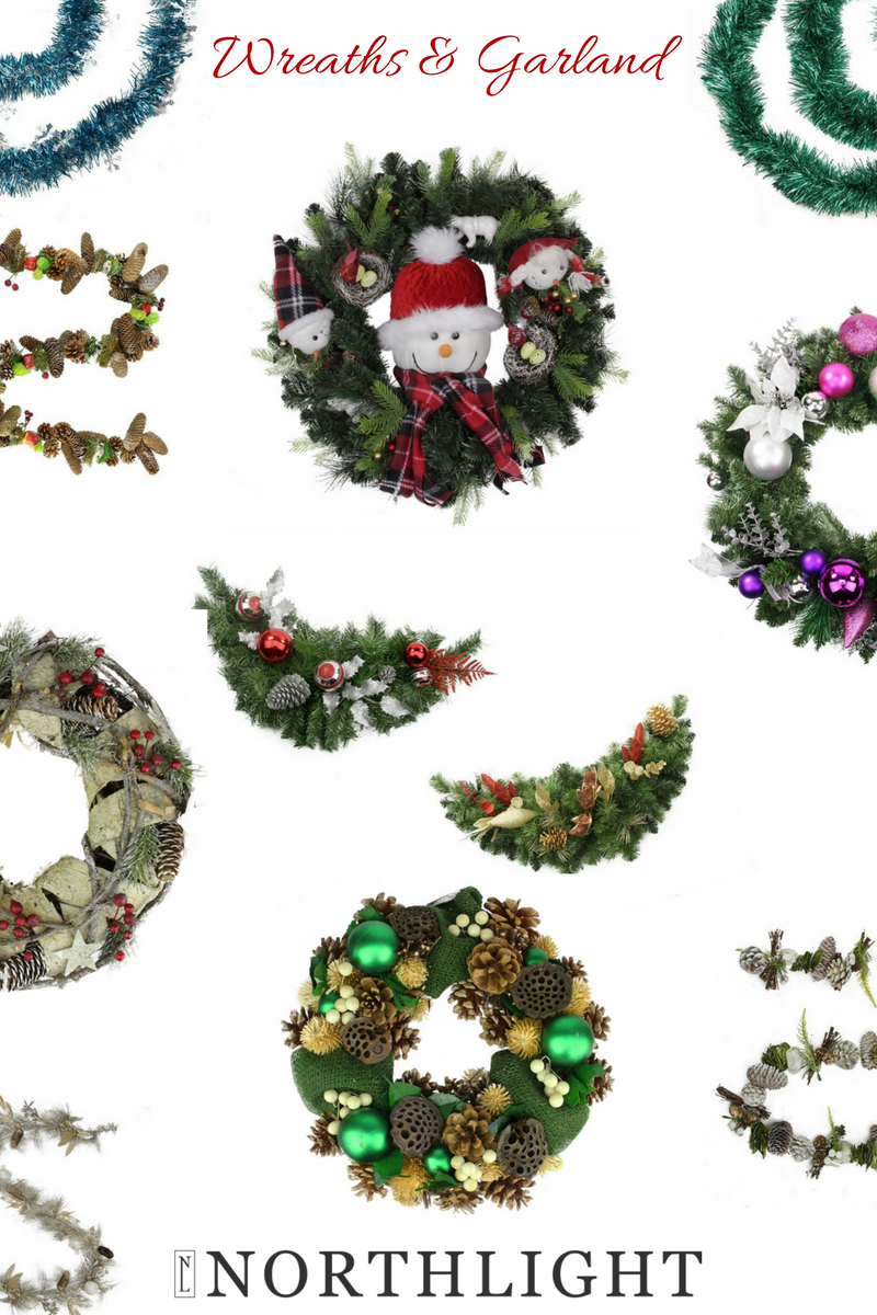 northlight wreaths and garland