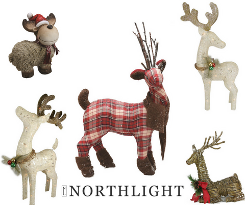 northlight reindeer table decorations christmas 2016