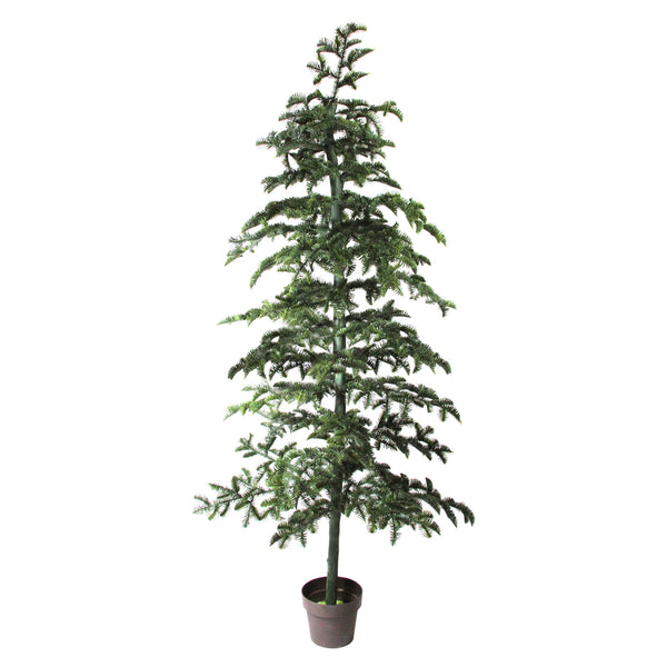 6.5' Potted Green Spruce Artificial Topiary Tree - Unlit