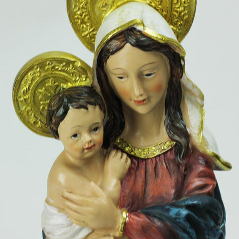 "12"" Virgin Mary with Baby Jesus Religious Christmas Nativity Table Top Figure"